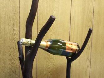 流木ワインホルダーE(2本用)の画像