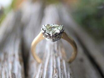 1カラット以上のハートシェープダイヤモンド指輪の画像