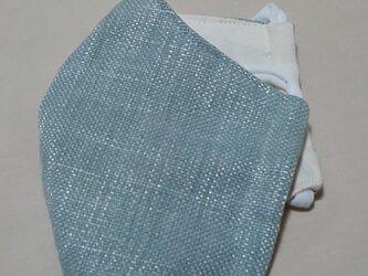 立体インド綿マスク〜受注生産〜ミントブルーの画像