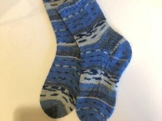 No.455 手編み靴下の画像