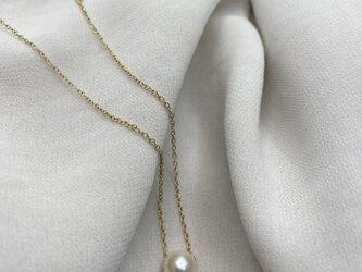 あこや真珠の一粒ネックレスの画像
