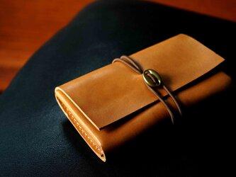 イタリアンレザー「cartao」カードケース#camel【送料無料】の画像