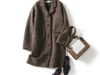 大人が着たいお洒落なウールコート ウール80%バイル生地 ロングコート191205-4の画像