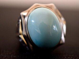 85-6 上品 大玉 一粒 本物 天然 トルコ石 メンズ リング ターコイズ 指輪 プレゼント 誕生日 レディースの画像