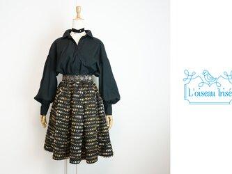 星とモールのギャザースカートの画像