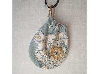 ♡半額sale♡フレンチコットンリネンの巾着 sdeco colib gbcの画像