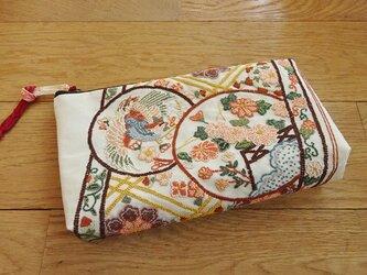 相良刺繍を楽しむポーチ(壱)の画像