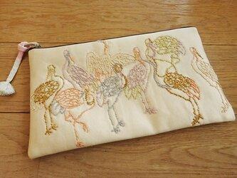 相良刺繍を楽しむポーチ(弐)の画像