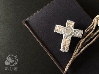 ブローチ【十字架】ラテン型グレーの画像