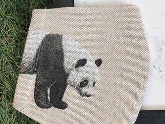 秋冬マスク 立体マスク キッズ オトナ パンダの画像