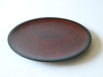 溜塗九寸皿の画像