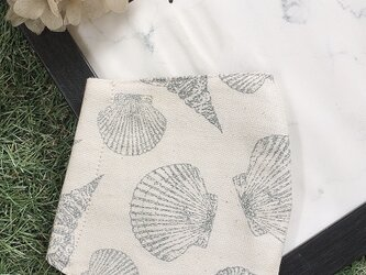 秋冬マスク 立体マスク キッズ オトナ 貝殻 シェルの画像