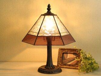 ケルティックガラスのテーブルランプの画像