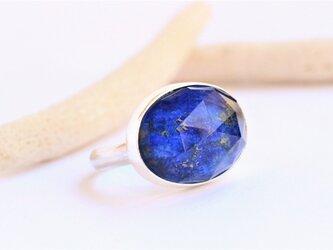 ラピスラズリ × クリスタルAAA Silver Ringの画像
