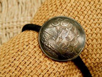 #H166  New Zealand Coin Hair Elasticの画像