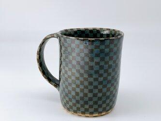 練り込みマグカップ checkeredの画像