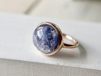 K10[深海庭園デュモルチェライトinクォーツ]ringの画像