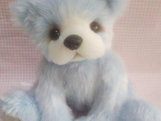 ふわふわぬいぐるみ☆テディベア風くまさん☆Lサイズ☆ライトブルーの画像