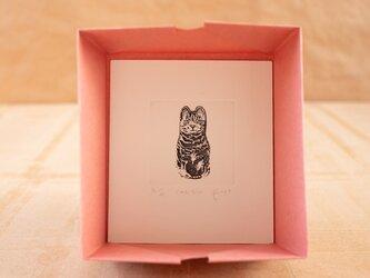 """銅版画 """"cat tin""""の画像"""