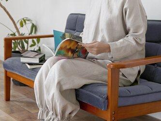 【wafu】中厚リネン 2way パジャマ ルームウェア 上下セット/亜麻ナチュラル r011b-amn2の画像