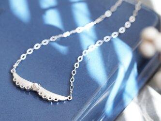 パール 襟 ネックレス シルバー925の画像