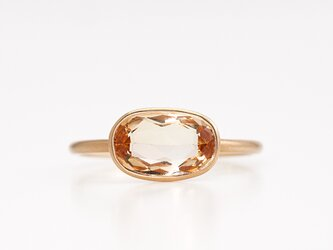 Imperial topaz ring / Ovalの画像