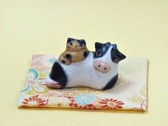 牛さんといっしょ(小さめ)の画像