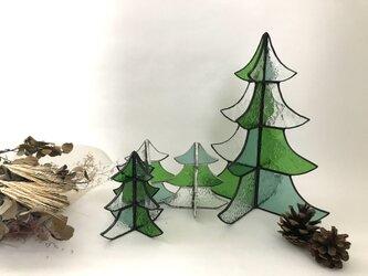 【オーダー品】ステンドグラス クリスマスツリー 大の画像