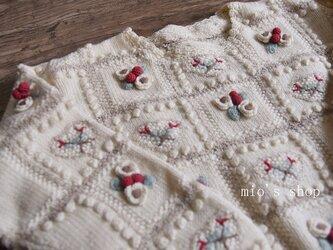 【1 着限定】刺繍たっぷり ウール・ セーター ニットHK00=098の画像