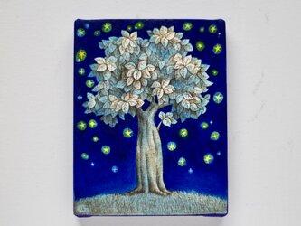 木と星たち03(原画)[original drawing]の画像