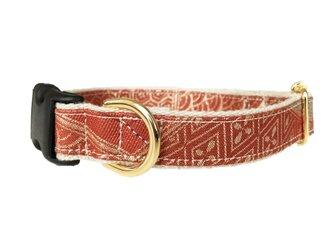 KIMONO / Kimono Remake DogCollar,Red-Gold(犬用首輪 きもの 金襴,レッド)の画像
