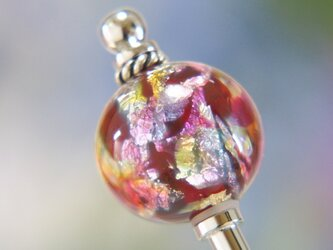 虹色とんぼ玉のかんざしの画像