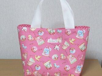 ミニトートバッグ★クッキー柄(ピンク)の画像