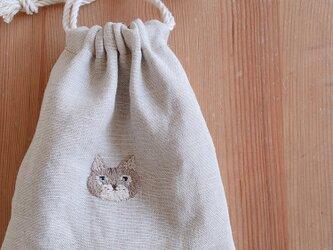 おさんぽ巾着ミニ ネコの画像