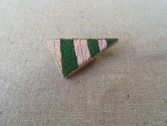 刺繍ブローチ とんがり(ストライプ)の画像