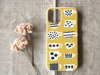 【iPhone / Android】表面のみ印刷*ハード型*スマホケース「happy mug(mustard gold)」の画像