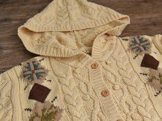【受注製作】刺繍たっぷり ウール・ セーター ニットHK09845の画像