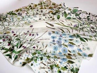 ウールスカーフ「wildflower-AW」の画像