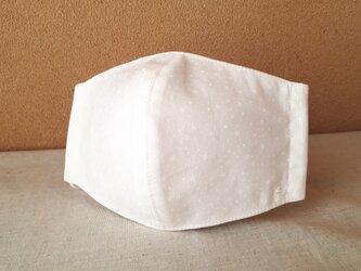 立体マスク[M]*白い星屑×抗菌加工ダブルガーゼ(白)の画像