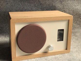 【真空管アンプ内蔵】オーク材のスピーカーの画像