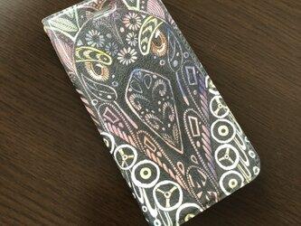 帯なし手帳型iPhoneケース/スマホケース/セージライチョウ/キジオライチョウ/鳥の画像