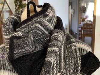 クリスマスプレゼントに~ ドミノ編み№4 マフラーの画像