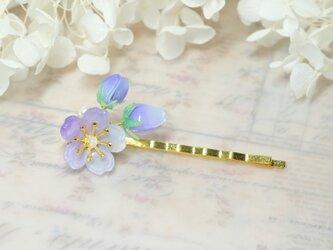 桜蕾ヘアピン♥自分だけの春を待つ -青紫色-の画像