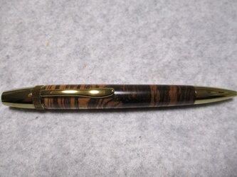 ゼブラウッド ガラスコート仕上げ 回転式ロングパトリオットボールペン の画像