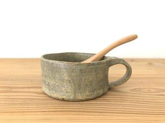 平マグカップ さびあさぎの画像