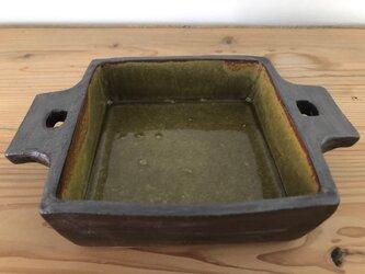 グラタン皿 正角 飴の画像