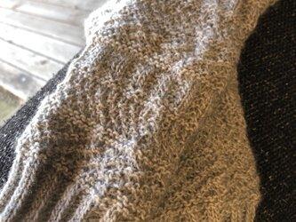 模様編みのデミグローブの画像
