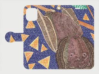手帳型iPhoneケース/スマホケース/クビワオオコウモリの画像