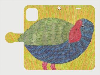 手帳型iPhoneケース/スマホケース/タカヘ/鳥の画像