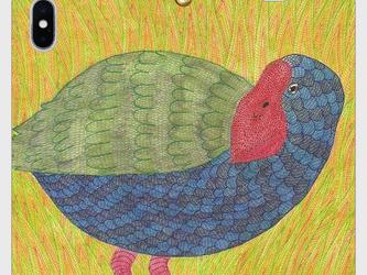 帯なし手帳型iPhoneケース/スマホケース/タカヘ/鳥の画像